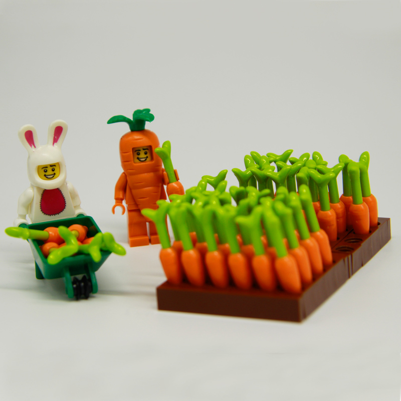 Carrot Building Blocks DIY Easter Series Rabbit Figures Bricks City Action Figures Parts Accessories Block Kids Toys LegoINGlys sonny angel mini figures easter series 6pcs set toys christmas