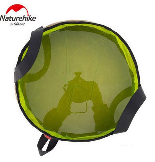 NatureHike 10L Portable Ultralight Nylon Outdoor Folding Water Washbasin Wash Bag Foot Bath Camping Equipment Travel Kits in Water Bags from Sports Entertainment