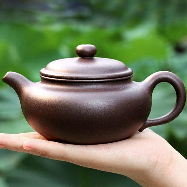 350ML Yixing Purple Clay Teapot Handmade Health Raw Ore Purple Mud Vintage Zisha Pot Kung Fu Tea Set Puer Tieguanyin Tea Kettle