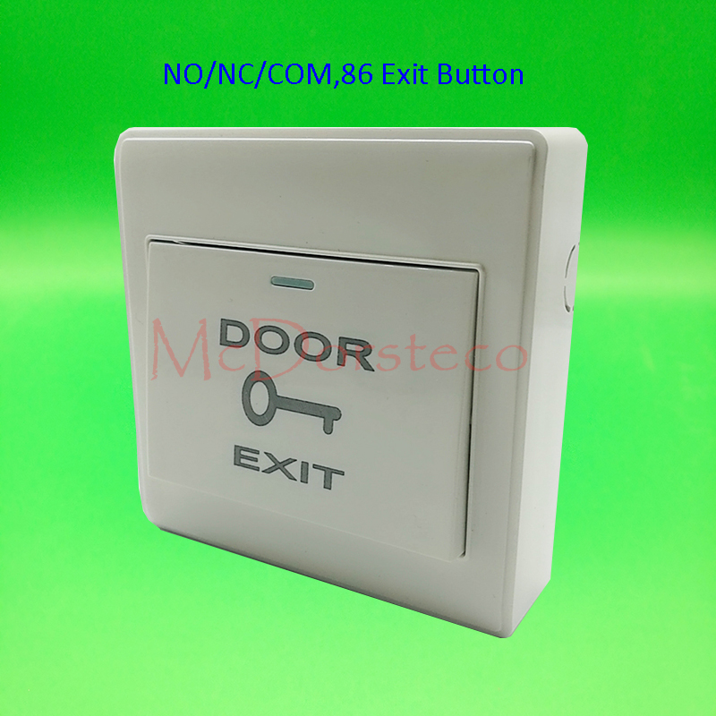 NO/NC/COM Exit Button Wall Mount Exit Button Push Door Release Exit Button Switch For Electric Access Control System stainless steel exit button wall mount exit button push door release exit button switch for access control