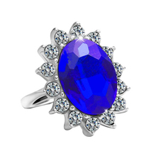 Fashion Rings for Women Engagement Ring Tiffan Jewelry Bague Princess Kate Blue Diamond Oval Lord of the Anillo