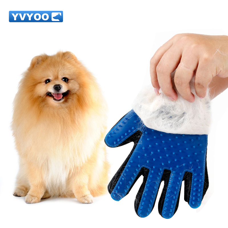 YVYOO Pet Dog Accessories Grooming Supply  Pet Dog Hair Brush Comb Glove For Pet Cleaning Massage Glove  Cat Hair Glove  D10