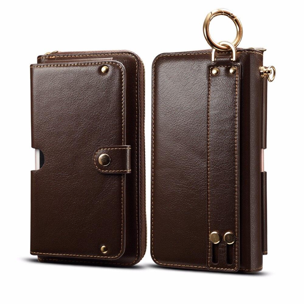 Véritable portefeuille en cuir de vache anneau de doigt ceinture étui de téléphone portable pochette pour Xiao mi mi mi x 2 s, rouge mi Note 5 Pro, rouge mi Y1/Y1 Lite