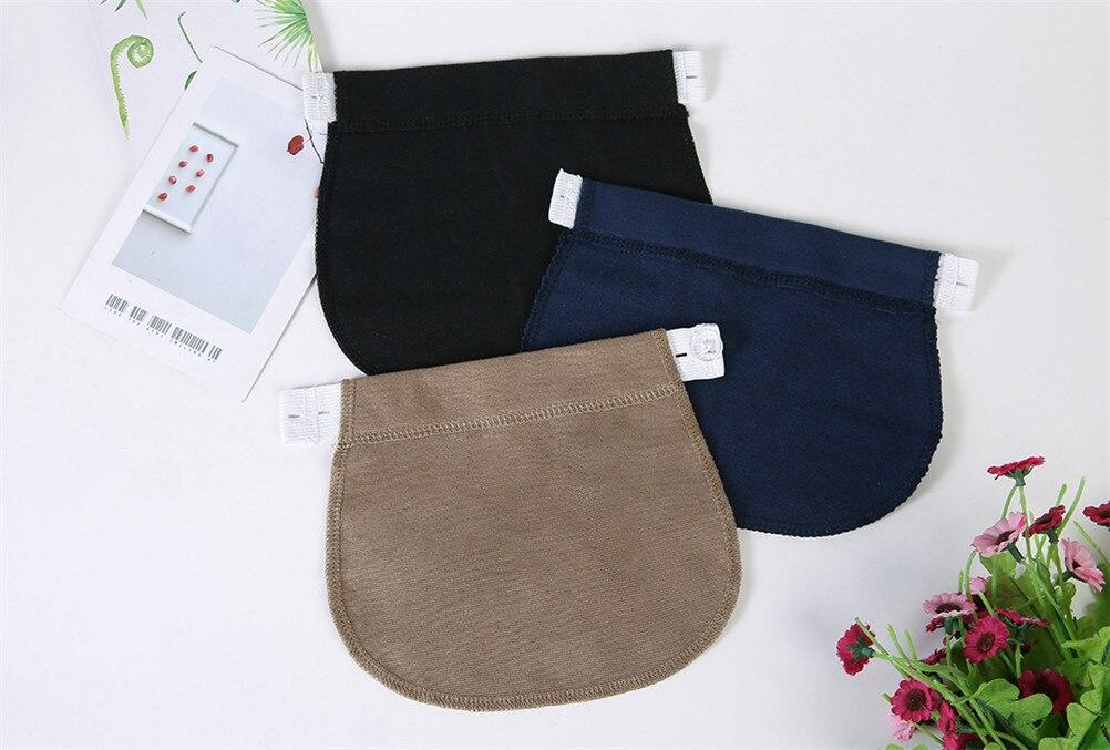 1/3Pcs Maternity Pregnancy Waistband Belt ADJUSTABLE Elastic Waist Extender Pants Hot New Black/Navy Blue/Khaki