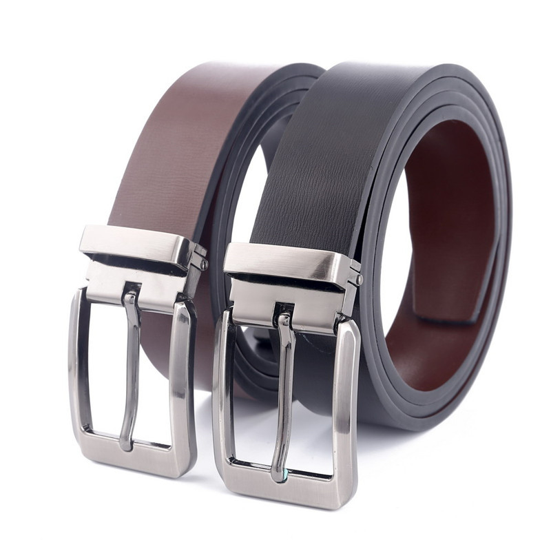 New brand men belt 100% genuine leather belt for men full grain leather belt pin buckle belts for jeans wide