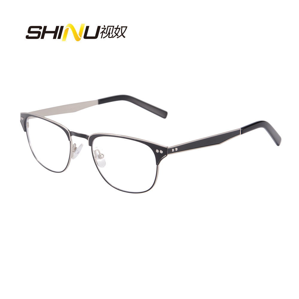 f0abf616800 half rim stainless steel double color plating metal Glasses Frames ...