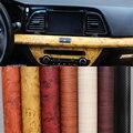 1 pc 120*30cm Self-adhesive Vinyl Wood Grain Textured Car Wrap Car Internal Stickers Wallpaper Furniture Wood Grain Paper Film