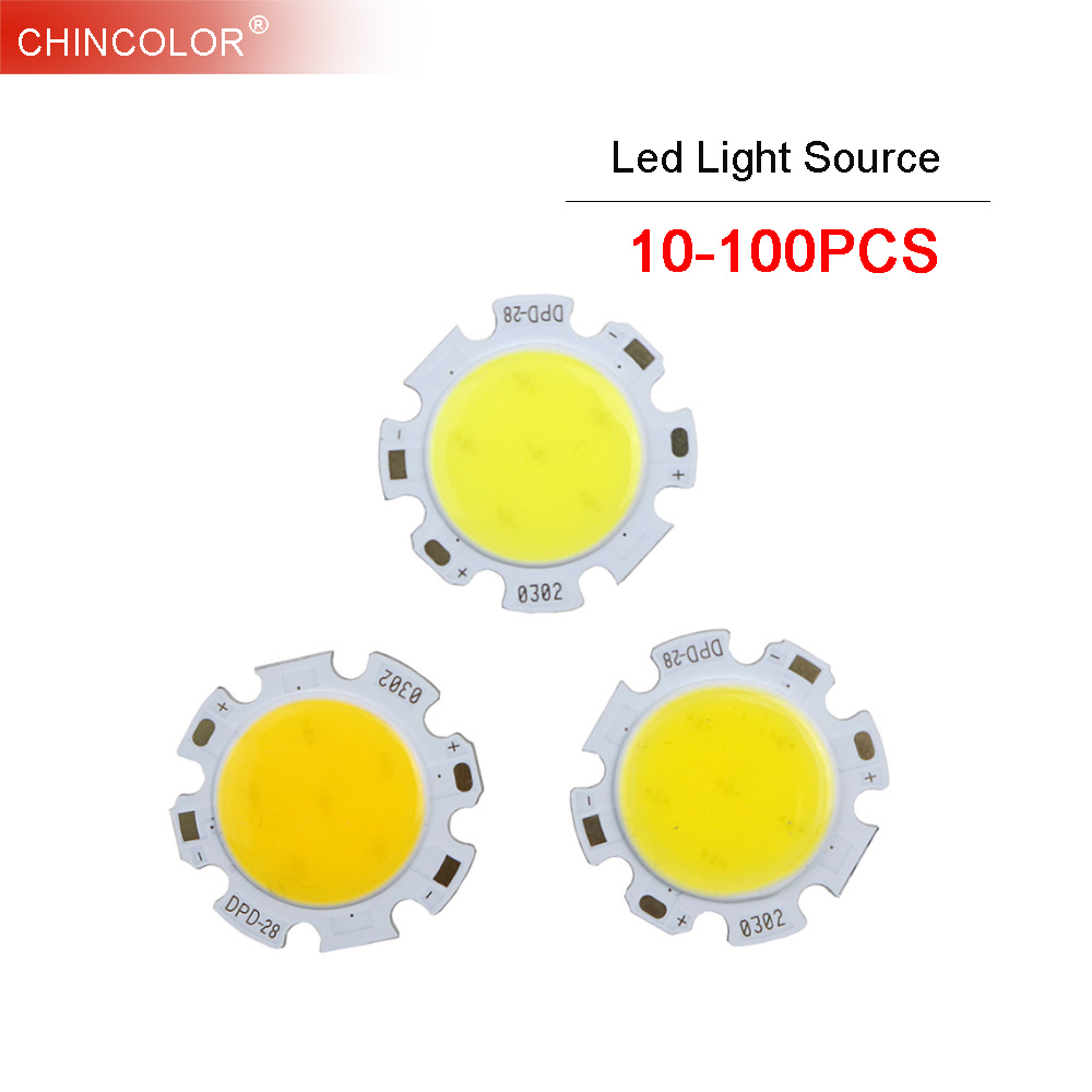 LED COB Chip Source Lighting 10-100pcs 28mm 3W 5W 7W 10W 12W 300ma White DIY Spotlight Downlight Tube Light Ceiling Lamp Bulb JQ 5718hb3 dm542 stepper motor package 57byg miniature motor plus drive package free shipping stepper motor driver