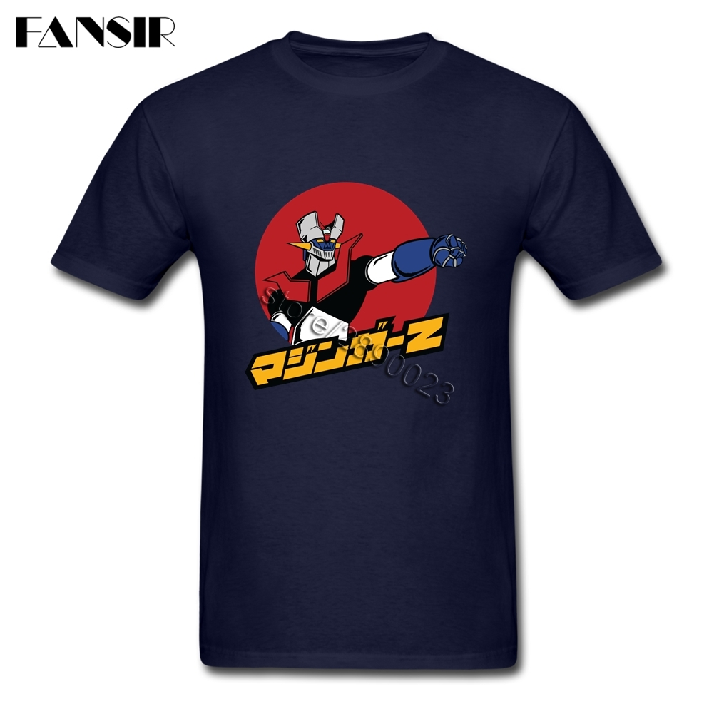 Great <font><b>Mazinger</b></font> <font><b>Z</b></font> <font><b>T</b></font> <font><b>Shirt</b></font> Mens Short Sleeve Crewneck Cotton Men <font><b>Shirt</b></font> Brand-clothing Big Size image