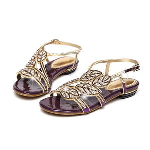 2498a1717 2018 Women Party Shoes Fashion Genuine Leather Sandals Wedding Shoes  Rhinestone Sandals Open Toe Crystal Sandals XMX-A0009