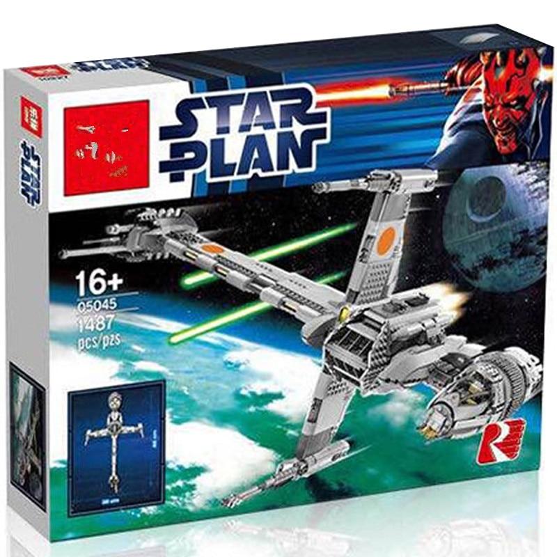 Die 05045 1487 stücke STAR Wars Die B flügel Starfighter Bausteine Ziegel Spielzeug fit starwars 10227 modell-in Sperren aus Spielzeug und Hobbys bei  Gruppe 1
