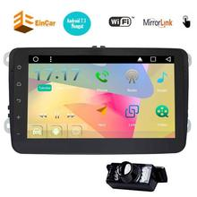 GPS Navigation for Car Stereo 2Din Bluetooth Android 7.1 Sat Nav for VW Tiguan Golf Passat Jetta Skoda with Backup Camera&canbus