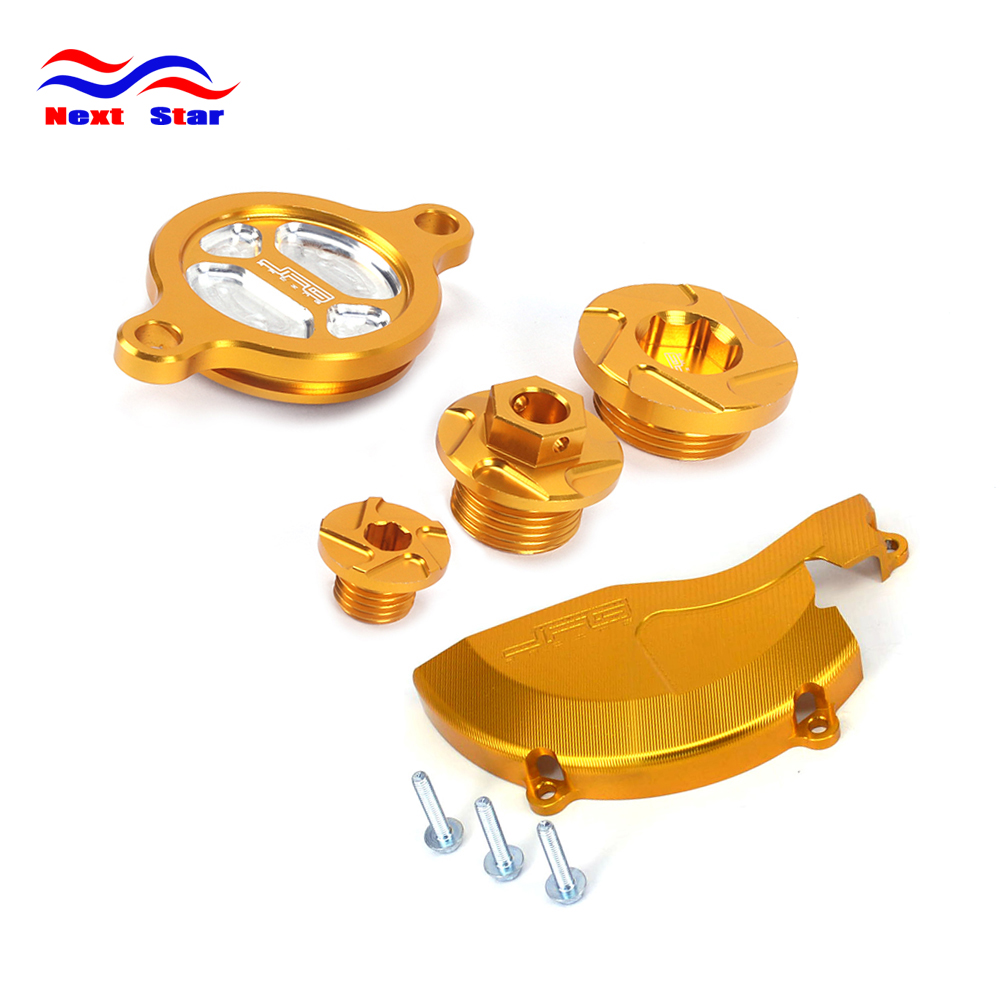 Motorcycle Motocross CNC Engine Cover Guard Cap Timing Oil Filter Screw For SUZUKI RMZ450 RMZ 450 2008 2009 2010 2012 2013-2016 absorber cover cap front shock absorber cover cap for dynas 2008 2013 except 2008 fxdse