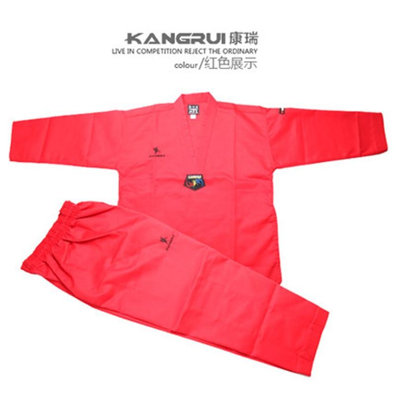 Poomsae Taekwondo Uniform kleurrijke rood blauw zwart coach dobok - Sportkleding en accessoires - Foto 4