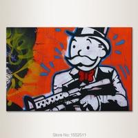 Alec Graffiti pop kunst street art geld leinwand Wand bilder für wohnzimmer hause poster und drucke quadros cuadros decoracion-in Malerei und Kalligraphie aus Heim und Garten bei