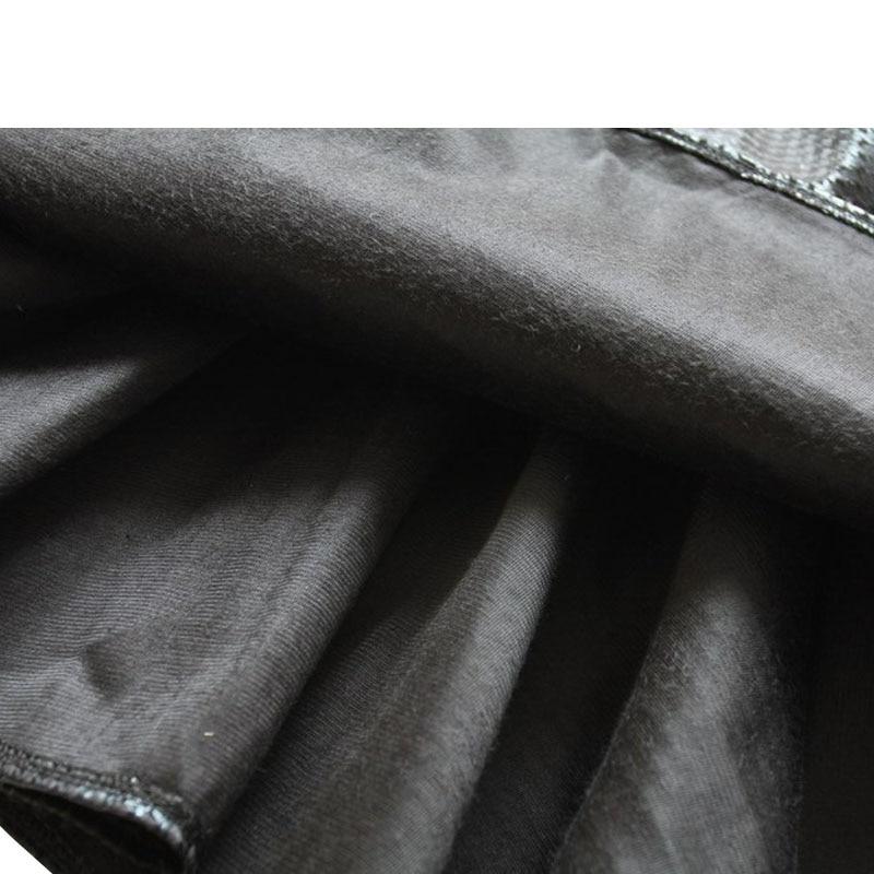 Herbst Neue Dame Hight Taille Faux Houndstooth Plissiert Mini PU Lederrock Frauen casual vintage kurze schwarze röcke weiblich