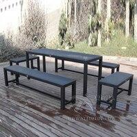 5 шт. для отдыха ротанга сад столовые наборы, плетеная мебель столовые наборы для гостиницы/Главная морской транспорт