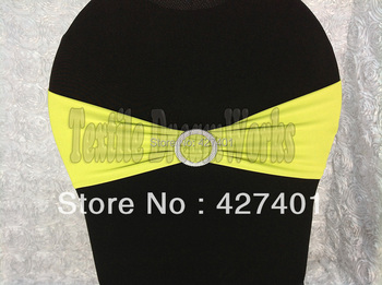 Hot Sale Olive Green Spandex Bands / Lycra Band /Chair Covers Sash With Round Buckle For Wedding & Banquet