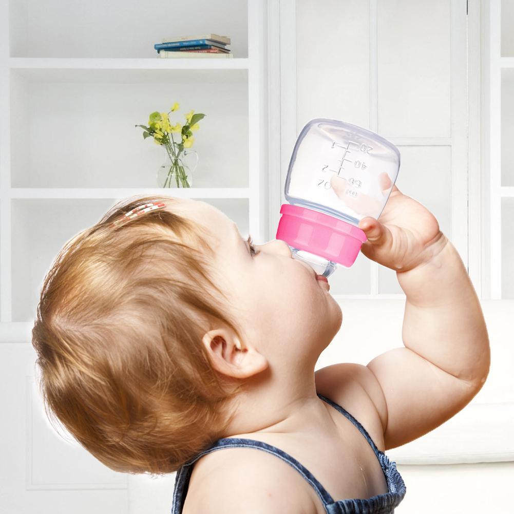 60ML Natural Feel Mini Nursing Bottle Caliber For Newborn Baby Drinking Water Milk Fruit Baby Feeding Food Bottle