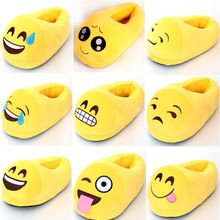 Winter Warm Soft Indoor Floor Emoji Plush Slippers Women Men Children Shoe Funny Cartoon Christmas Valentine Home Smiley Slipper