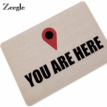 Zeegle Welcome Doormat Entrance Door Mat Word Printed Anti-Slip Floor Area Rugs Funny Custom Front Carpet