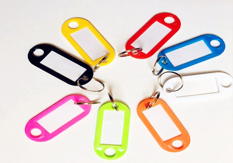 5Pcs/Lot Newly Multicolour Durable Key Card Classification Tag Keychain Key Chain Ring Hotel Number Label Tags Key Accessories