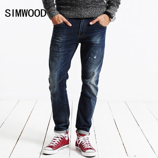Simwood 2018 новая весна зима джинсы мужские модные рваные джинсовые штаны брендовая одежда Штаны sj6034