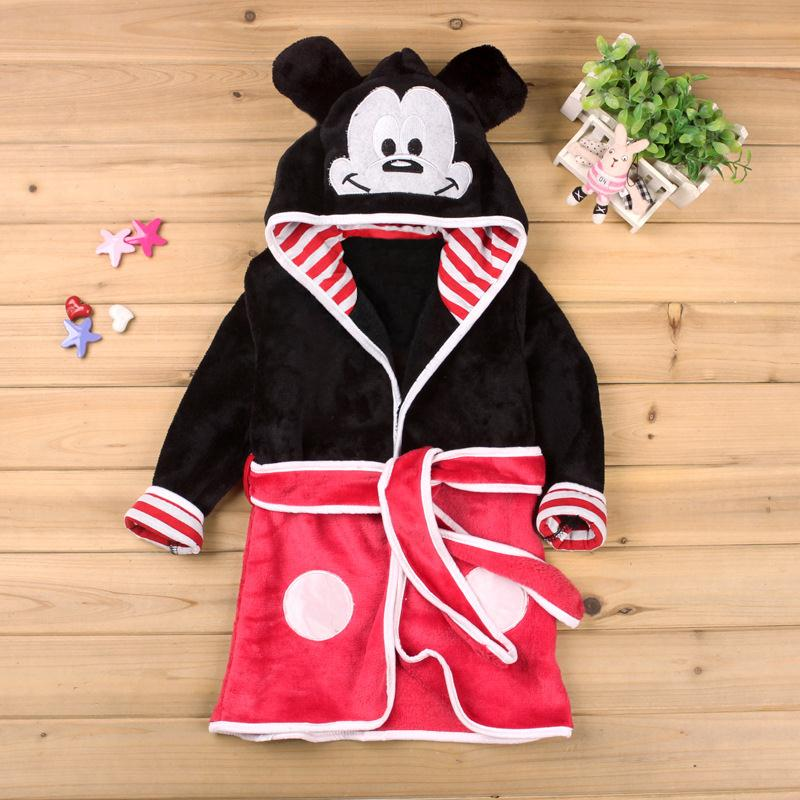 Baby Girls Robe For Boys 2018 Hot Sale Minnie Mickey Soft Robe bathrobe Pajamas Warm Clothes Children's Kids Clothing Robe стоимость