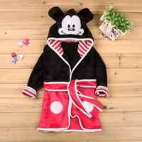 Baby Girls Robe For Boys 2018 Hot Sale Minnie Mickey Soft Robe bathrobe Pajamas Warm Clothes Children's Kids Clothing Robe