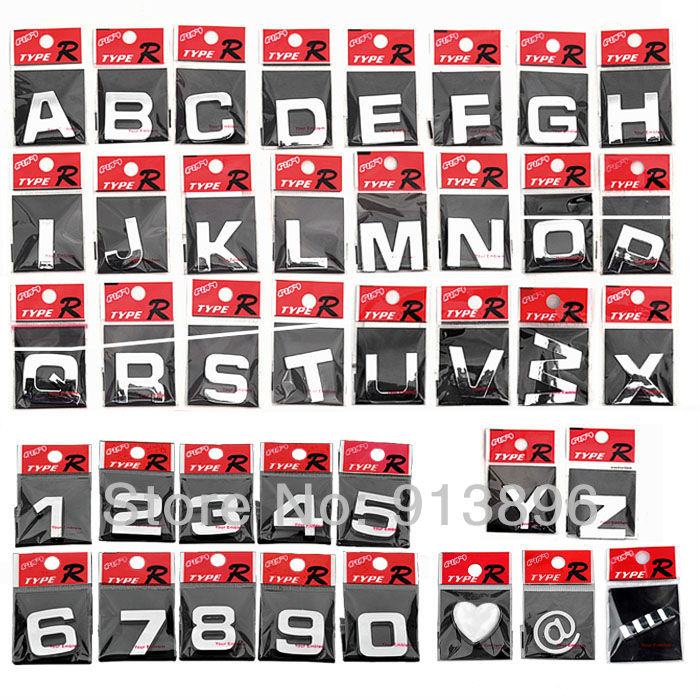 free shipping 10pcs letter 3d sticker auto chrome badge letter decal number emblem diy decoration alphabet brand car logo on aliexpresscom alibaba group