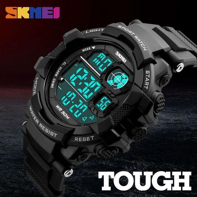 c6a5982b0d5f Skmei hombre grande pulsera digital relojes hombres LED Militar choque reloj  50 m impermeable moda al