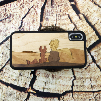 The little Prince real wood mobile phone case for Iphone 6 s 7 8 plus X S retro business phone shell