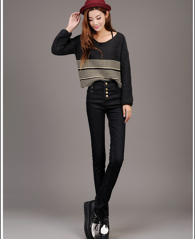 Aliexpress.com : Buy High waist pencil pants jeans casual skinny