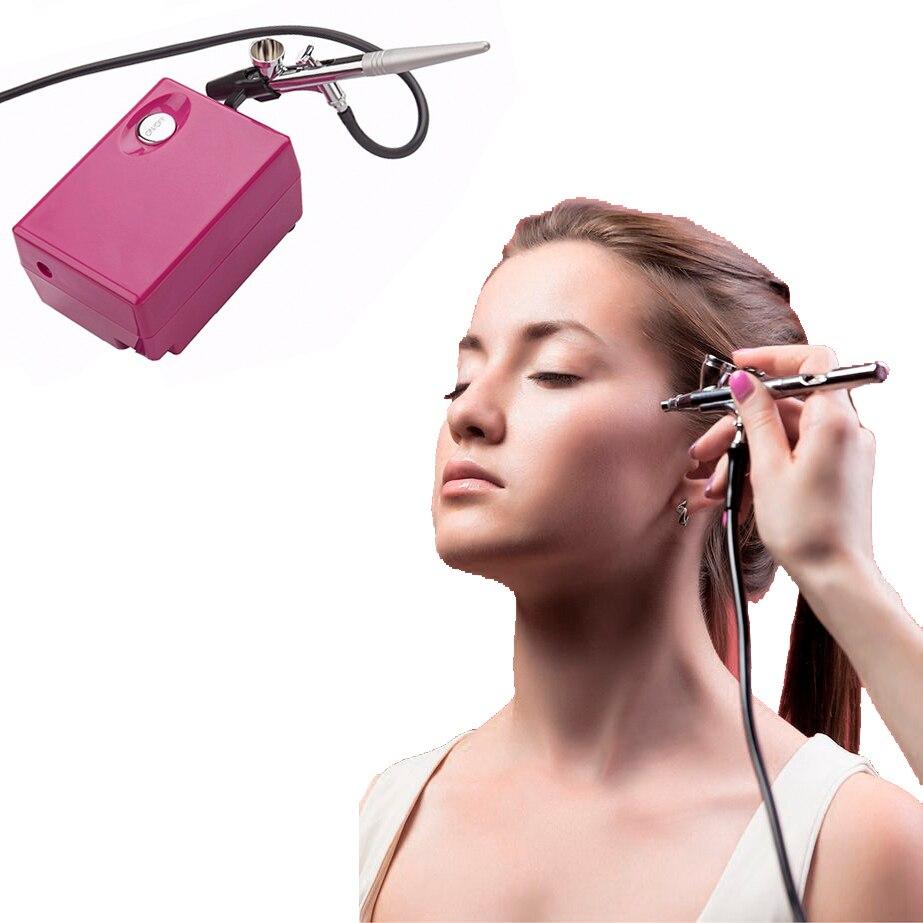 Professionnel kit de maquillage aérographe avec Compresseur Air Brush nail set Body Peinture accessoires de maquillage Pulvérisation alimentation pour la voiture jouet de gâteau