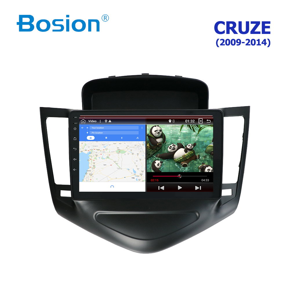 Android 8 autoradio lecteur vidéo multimédia Navigation GPS Android pour Chevrolet CRUZE pas de dvd 2 din 2009-2014 avec wifi 4G USB