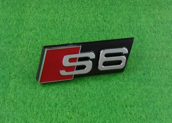 Car auto S6 S 6 Front Grille Grill Badge Emblem s line sline front grille emblem badge chromed plastic abs front grille mount for audi a1 a3 a4 a4l a5 a6l s3 s6 q5 q7 label