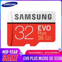 Карта памяти Microsd SAMSUNG EVO + карта памяти класса 10 Micro SD 32 Гб SDHC/SDXC Класс C10 UHS TF карты Модуль памяти Transflash карты памяти Microsd и SD адаптер подарок Бес...