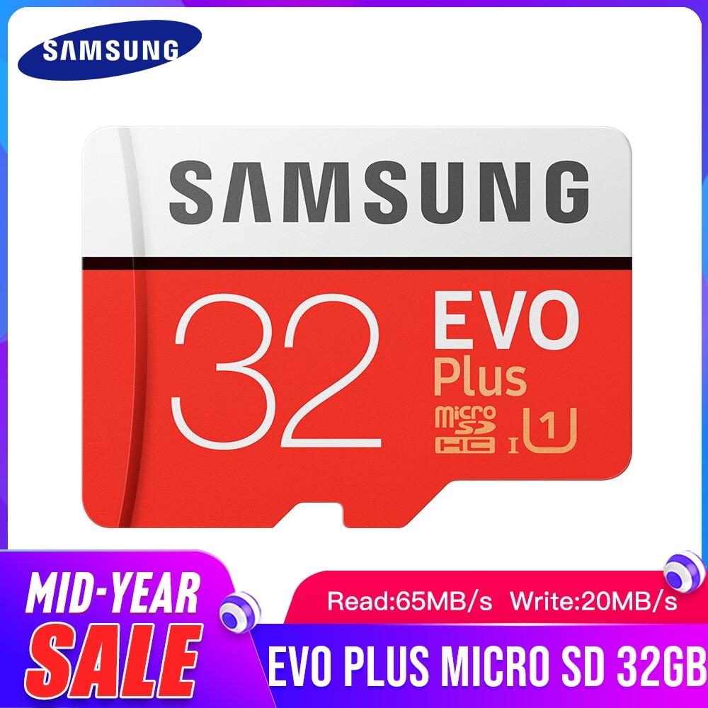 SAMSUNG EVO + Classe 10 C10 32GB SDHC SDXC Classe Cartão De Memória Micro SD UHS-I Cartões TF Trans Flash adaptador Microsd Novo e SD Presente