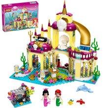 Yeni Varış Prenses arielin Saray Deniz Mermaid Compatibie Legoings Yapı Taşları oyuncak seti DIY Eğitici Hediyeler