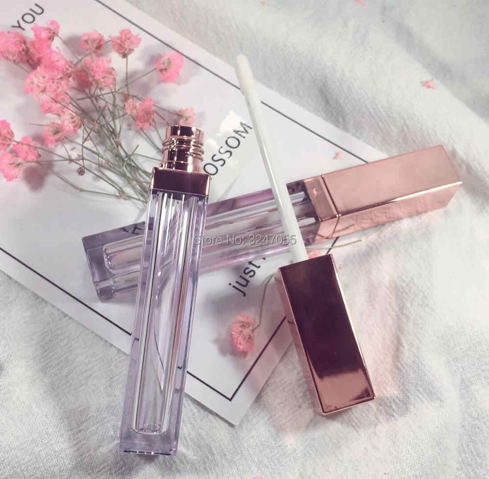 10/30/50pcs High Class Rose Gold Lip Gloss Bottle,Plastic Empty Cosmetic Lip Oil Refillable Tube, Liquid Lipstick Storage Bottle