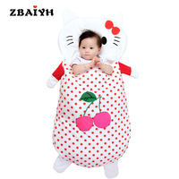 Cute Cartoon Cat Baby Sleeping Bags Envelope for Newborns Baby Winter Sleepsack Bag Blanket Swaddle Infant Fleabag Quilt