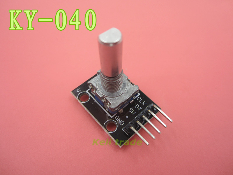1pcs Rotary Encoder Module Brick Sensor Development KY-040 free shipping hot sales rotary encoder module brick sensor development board for arduino