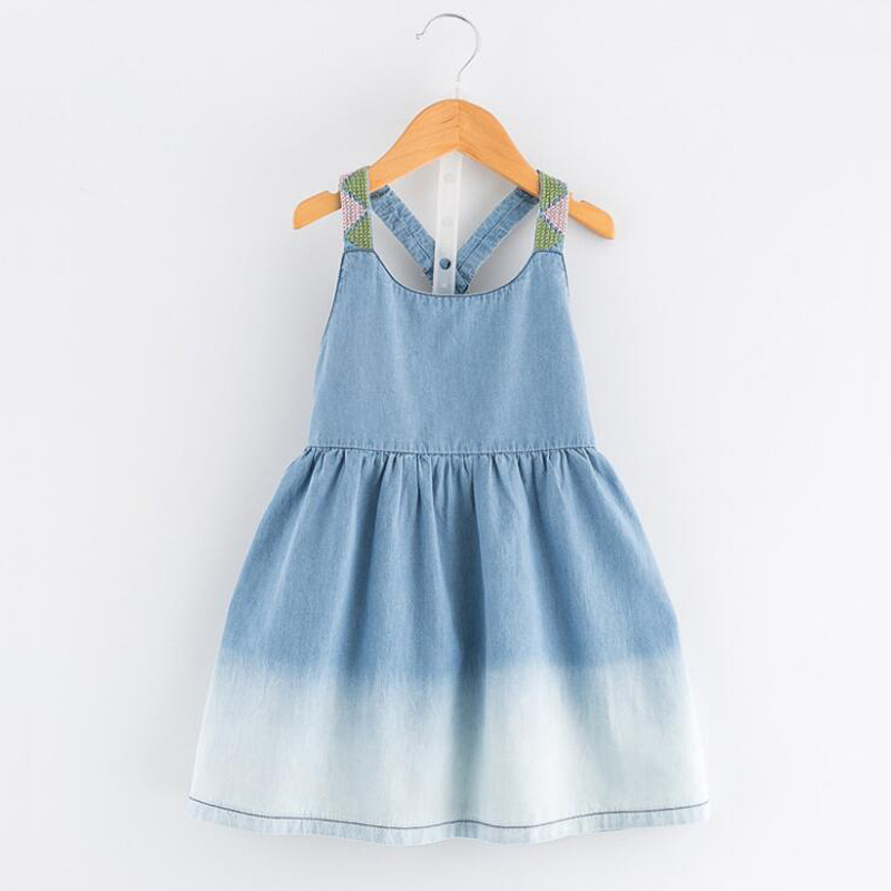 e5b4f8131 Summer Toddler Hollow Dress Elegant Little Girl Dress Child Denim Sundress  Baby Girls Costumes Teens Design Clothes For Holiday-in Dresses from Mother  ...