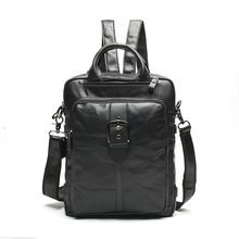 8863 new man bag backpack male first layer cowhide Student Backpacks retro men Satchel multifunctional Leather Backpack