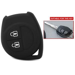 Image 1 - 2 כפתורים רכב מפתח Case כיסוי עבור Suzuki Amagatarai גרנד Vitara Swift Ignis SX4 ליאנה Aerio Vitara Jimny Vitara XL7 1pc סיליקון