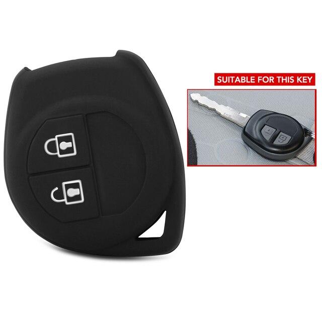 2 כפתורים רכב מפתח Case כיסוי עבור Suzuki Amagatarai גרנד Vitara Swift Ignis SX4 ליאנה Aerio Vitara Jimny Vitara XL7 1pc סיליקון