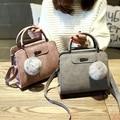 Envío libre, 2016 nuevos bolsos de las mujeres, simple moda solapa, tela matorrales bolsa de mensajero mujer, versión coreana bolsa de hombro.