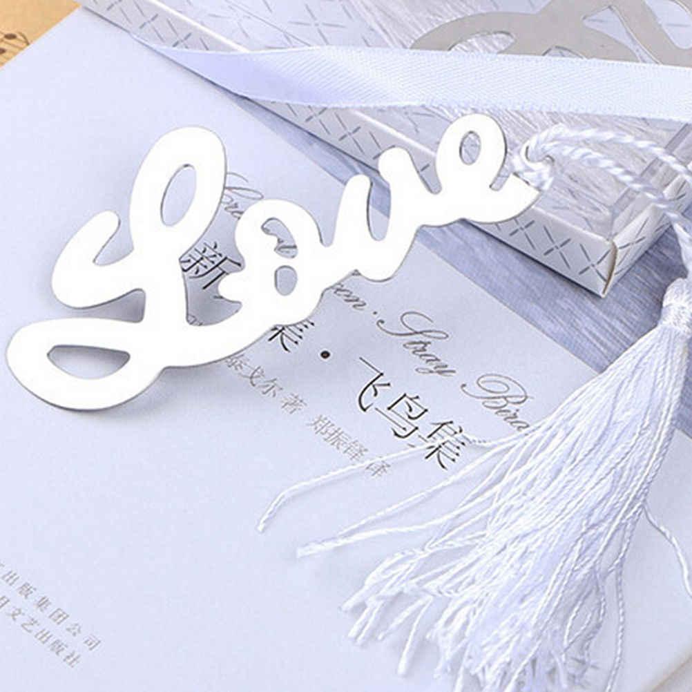 Liefdesbrief Bladwijzers Met Kwastje Bruiloft Benodigdheden Hanger Geschenken Briefpapier Real Marcador De Livro