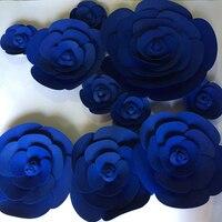 Dev Kağıt Köpük Gül Dekoratif Çiçekler 10 adet Sahne Düğün Parti Olay Arka Masa Süslemeleri decoracao de festa