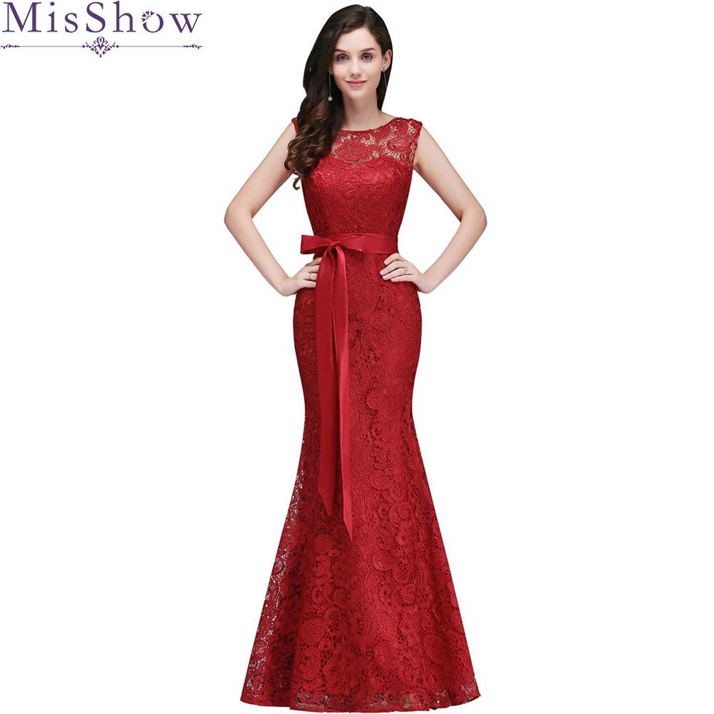 Mermaid bridemaid   dress   vestido longo sexy 2019 new Elegant Red lace   bridesmaid     dresses   Wedding Party   Dress   vestido real photos